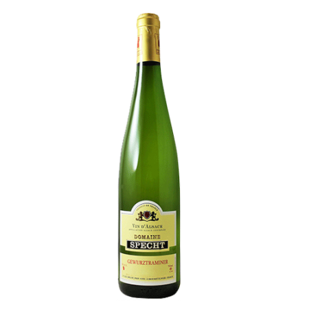 De Franse wijn uit de streek Elzas. Gewurztraminer. Te koop bij de Westlandse wijnhandel