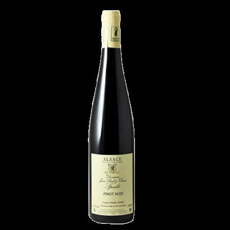 De Franse wijn uit de streek Elzas. mandelberg pinot noir. Te koop bij de Westlandse wijnhandel